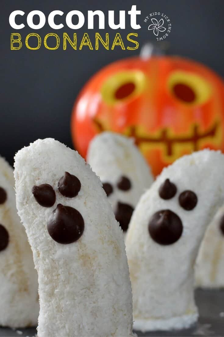 Coconut Boonanas A Healthy Halloween Inspired Kid Treat. Easy delicious and allergy friendly