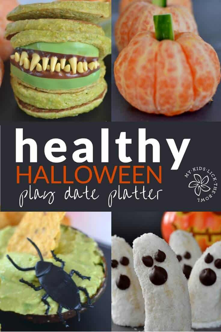 How to make a healthy and fun halloween food platter for kids.