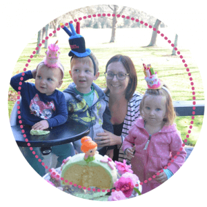 Stacey Kemeys Editor of My Kids Lick The Bowl Blog and her 3 children