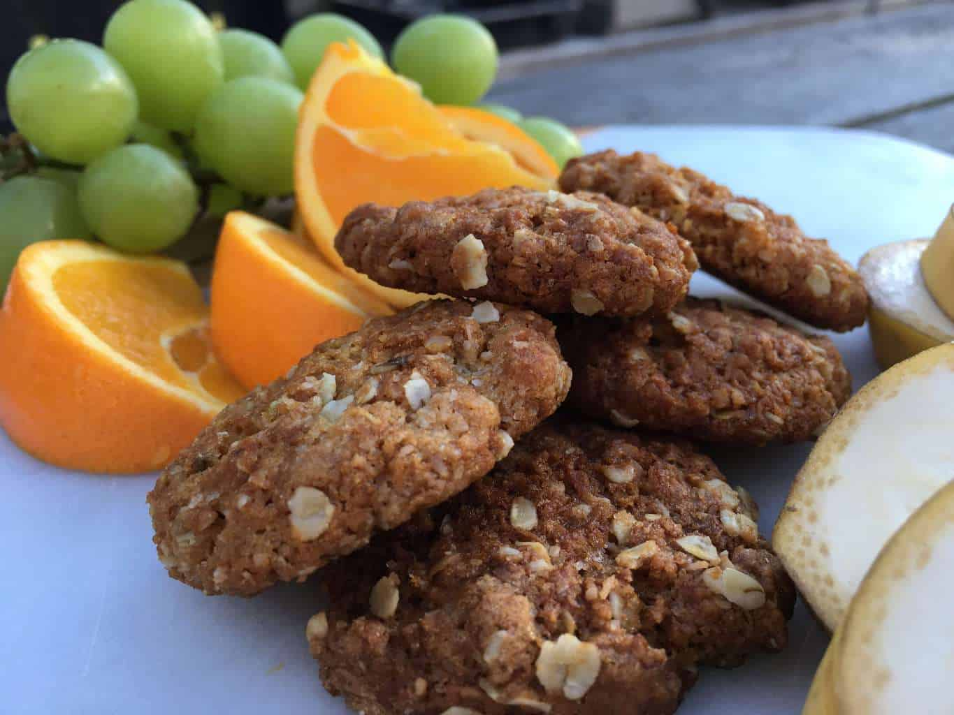 The best New Zealand ANZAC biscuit recipe, chewy, full of oats and coconut