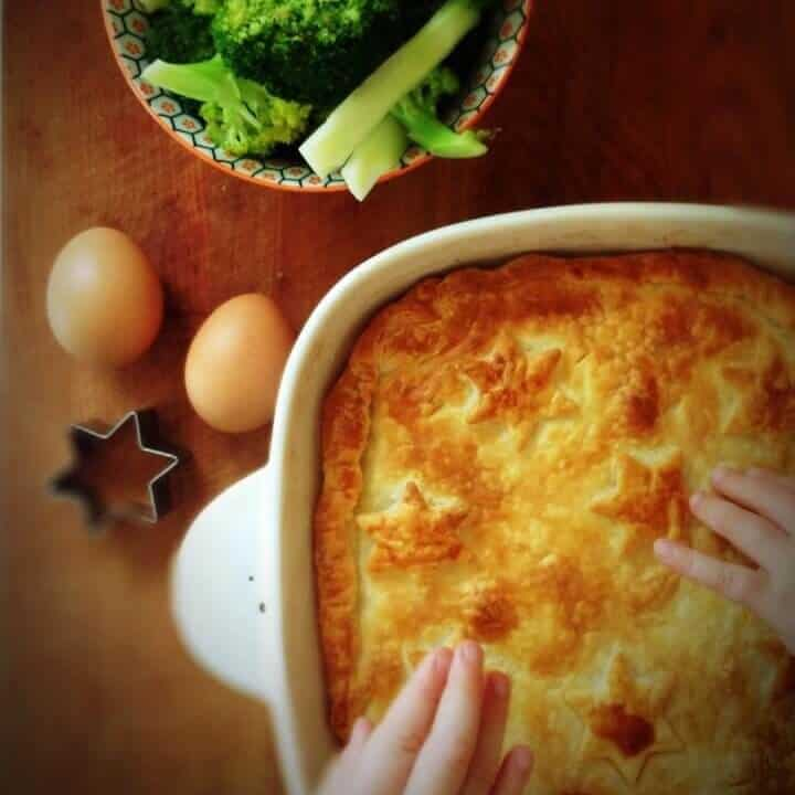 Three ingredient bacon and egg pie. Such an easy family meal