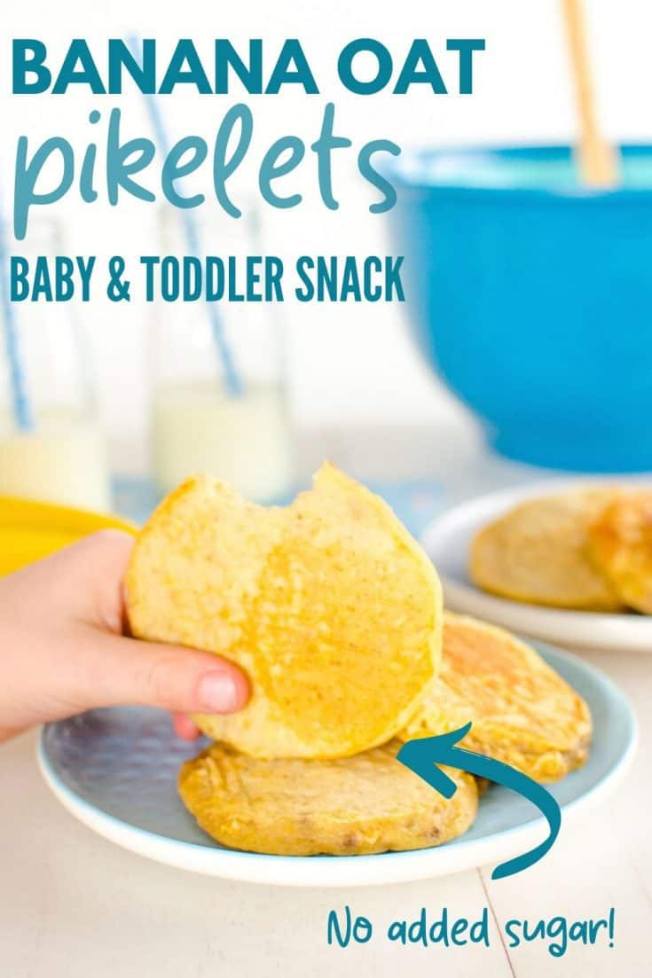 Banana Oat Pikelets. A no added sugar easy to make mini pancake. Suitable for Baby Led Weaning, Toddler Snacks, Breakfast and Lunch boxes! #babyledweaning #kidssnacks #blw