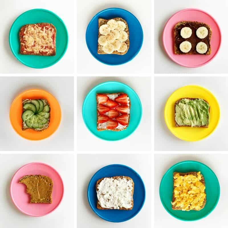 Ten healthy toast ideas for children
