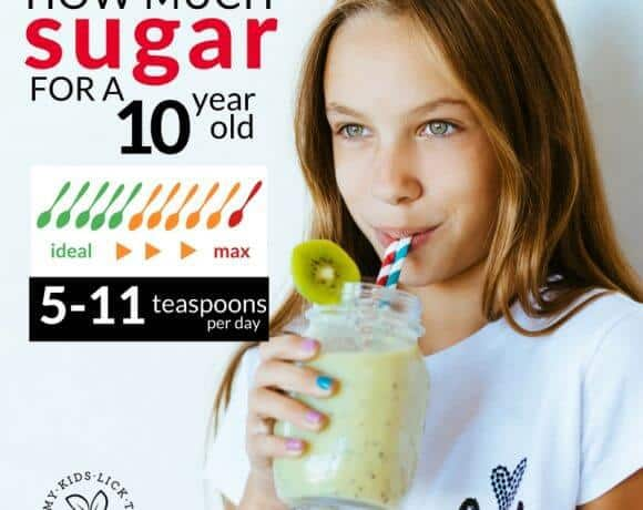 How much sugar is healthy for a 10 year old?