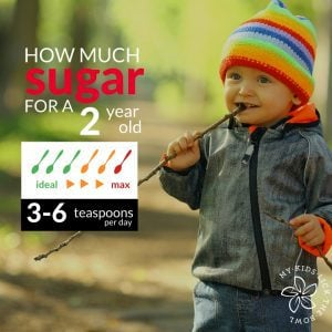 How much sugar is healthy for your two year old child