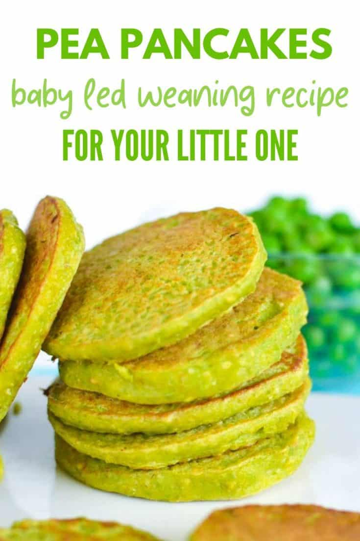 Pea pancakes are a perfect healthy kid snack or for baby led weaning. Based on oats, cottage cheese and peas they are packed with protein, easy and yummy!