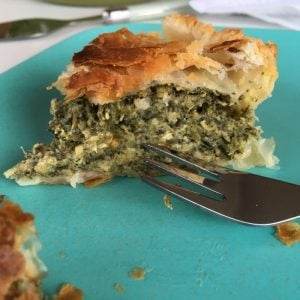 5 ingredient spinach and cottage cheese pie