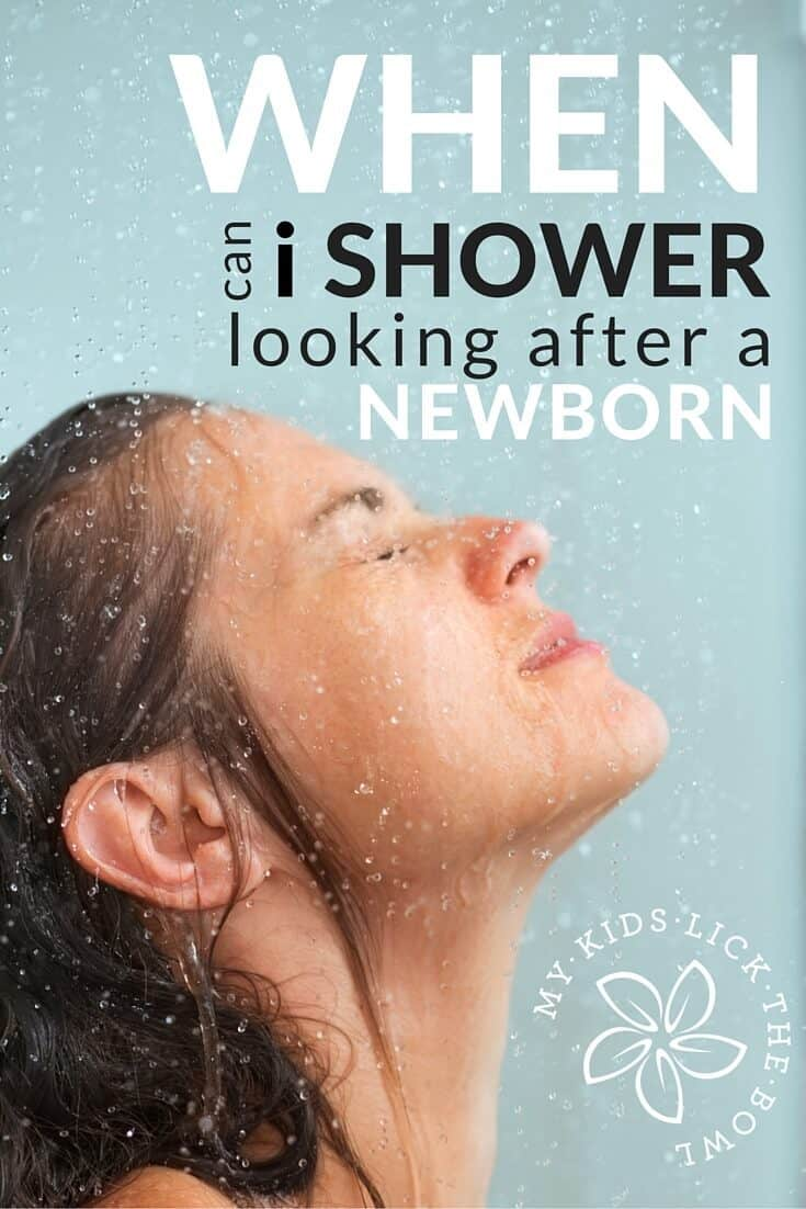 When is the best time of the day to shower when you are looking after a newborn