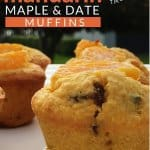 low sugar maple date and mandarin or satsuma muffins