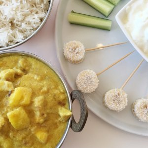 Mango Chicken Curry. A family meal my 3 children absolutely love. The perfect Kids Meal