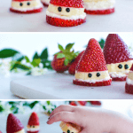 Strawberry Santa a healthy Christmas treat
