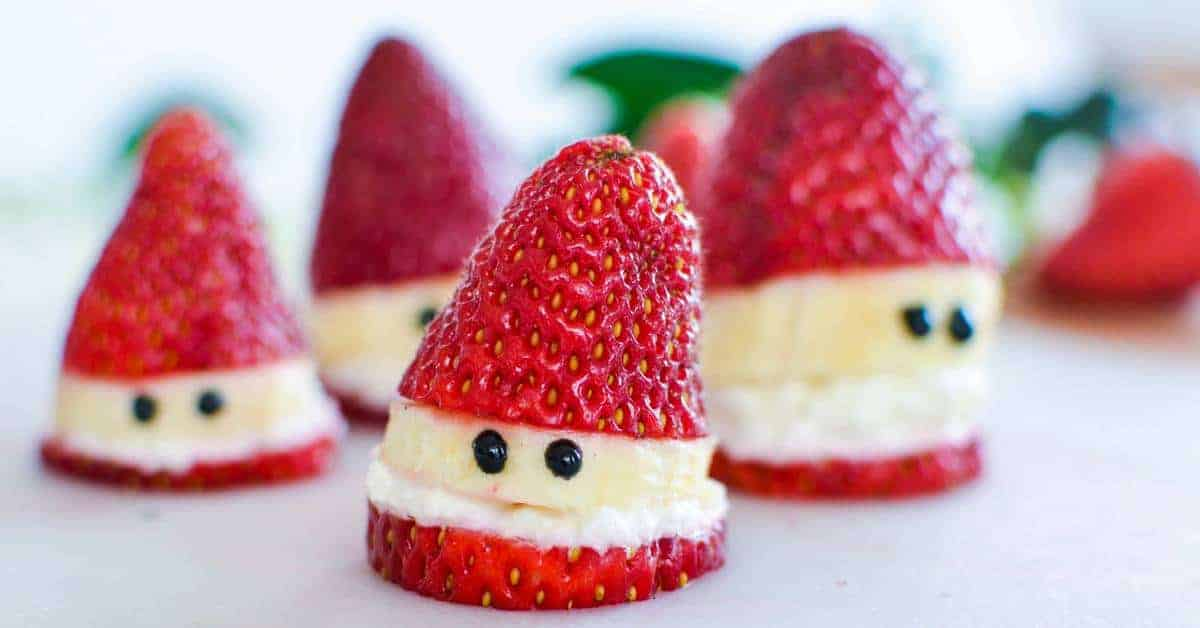 Strawberry Santas - A Healthy Christmas Treat