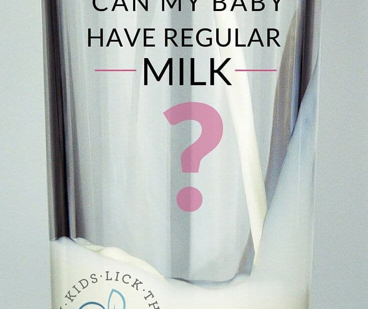 Can Babies Have Cows Milk In Food