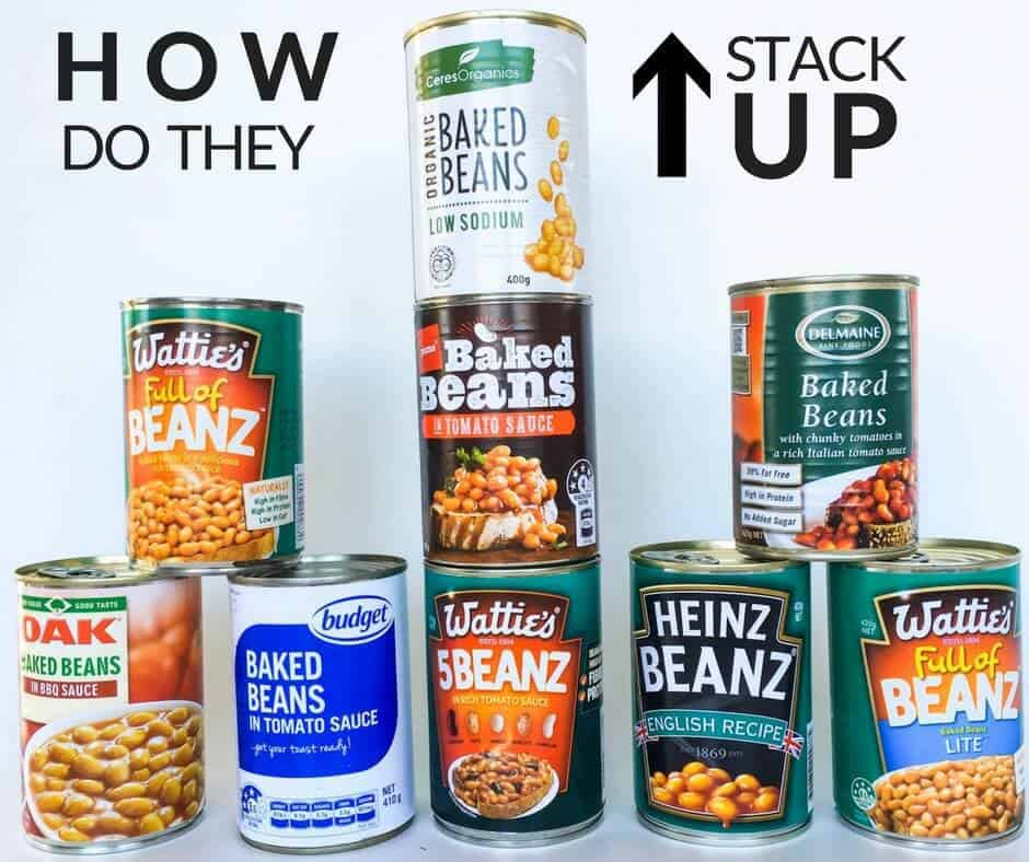 How much added sugar is in commercial baked beans