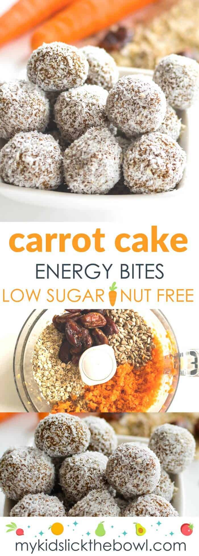 Carrot Oat Energy Bites Healthy No Bake Nut Free Energy Ball For Kids
