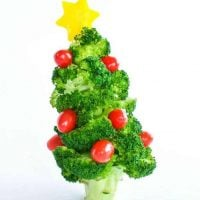 Edible broccoli Christmas tree a healthy fun Christmas snack and kid craft activity