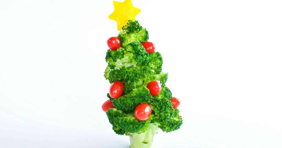 How to make an edible broccoli christmas tree
