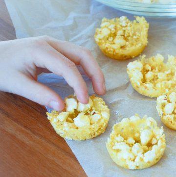 Cheesy Popcorn Bites