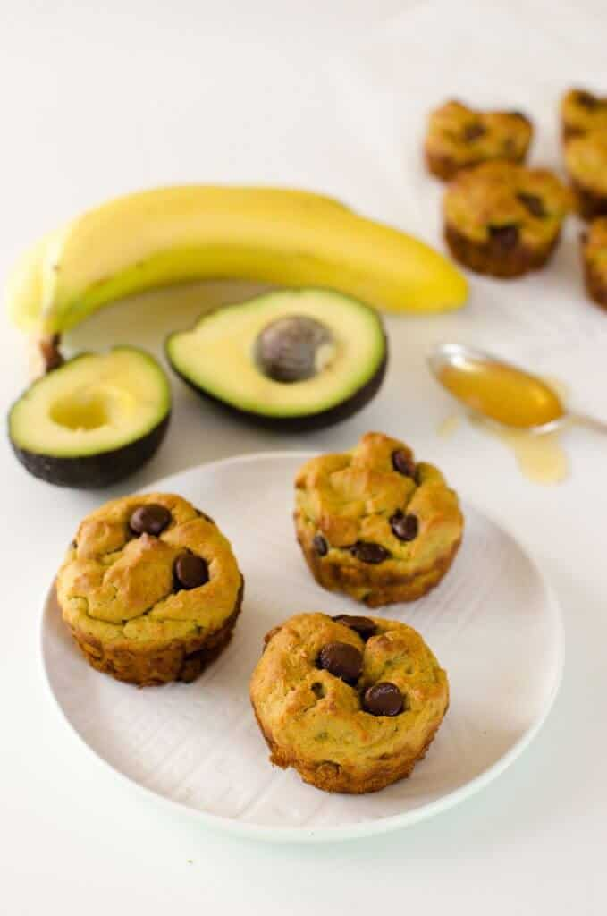 7 low sugar muffins for kids - avocado muffin recipe, banana, chocolate, healthy, dairy free, low sugar, for kids, healthy snack