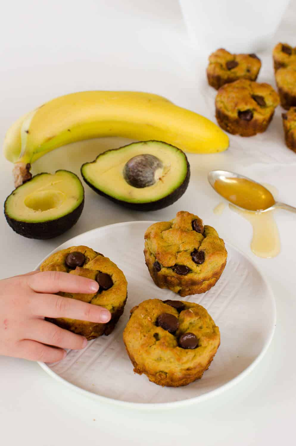 Avocado Banana Muffins Low Sugar Dairy Free