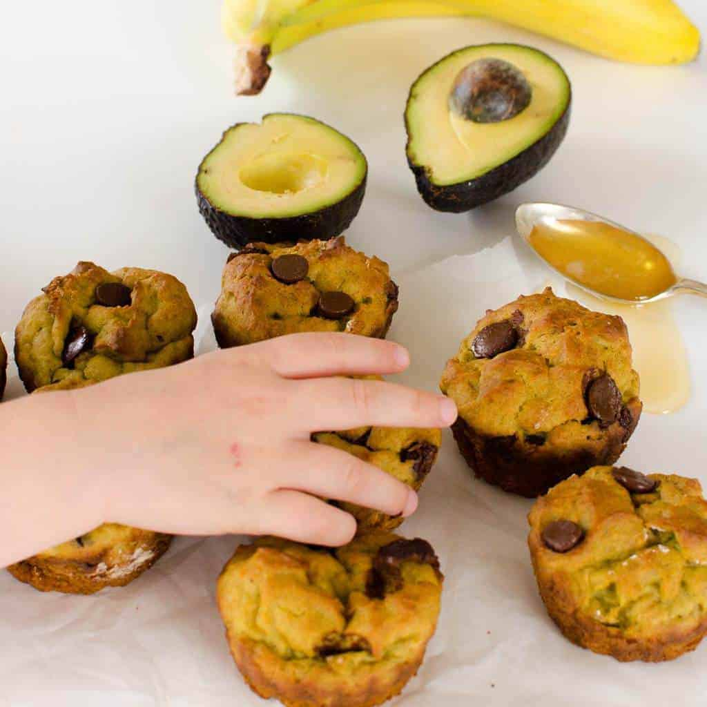 Avocado Banana Muffins