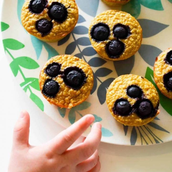 Blueberry Banana Pancake Muffins