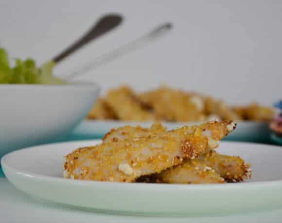 Popcorn chicken tenders a homemade healthy easy recipe which is a great alternative to commercial chicken nuggets