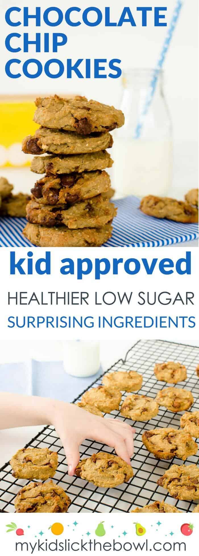 Healthy Low Sugar Chocolate Chip Cookie Recipe