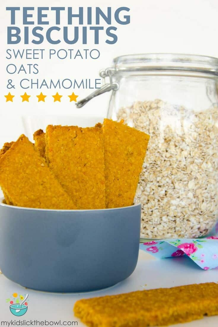 Healthy baby rusks, a homemade teething biscuit recipe using sweet potato, oats & chamomile brilliant homemade baby food idea #babyledweaning #homemadebabyfood #babyfoods #baby #babies