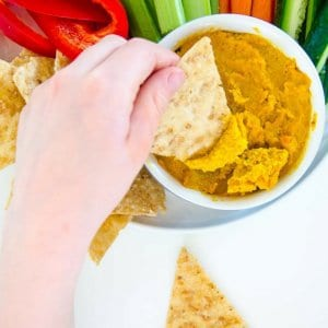 Roasted Carrot Cashew Dip, Healthy, Easy perfect for kids and fussy eaters,