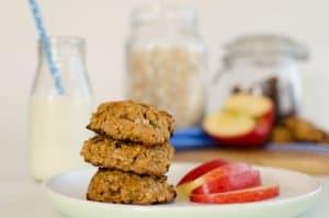 Apple Oat & Raisin Cookies