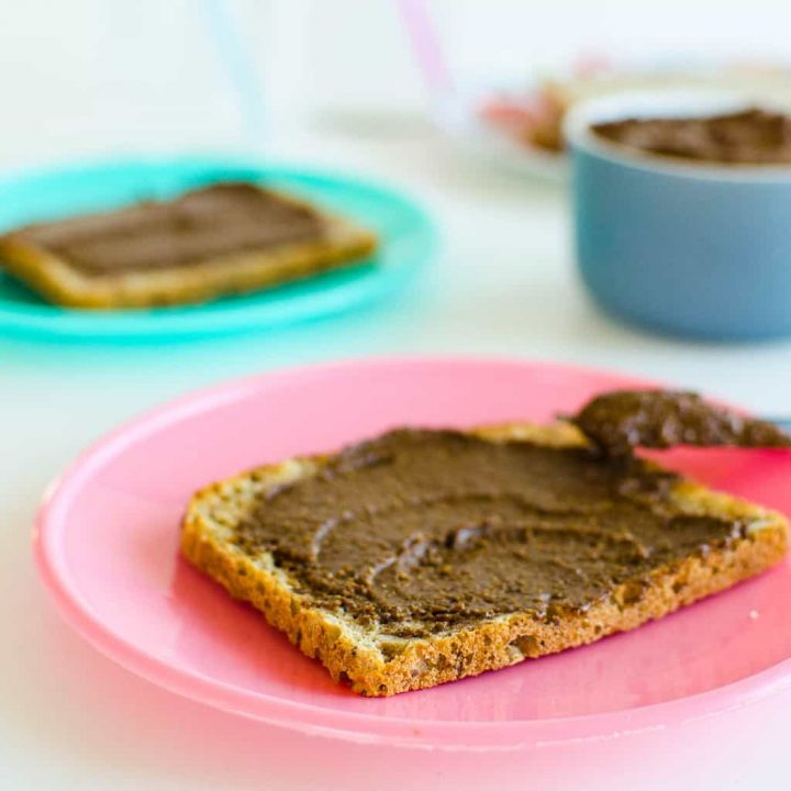 healthy nut free chocolate spread a homemade copy cat nutella lower in sugar made with sunflower seeds