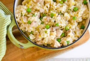 Chicken and Leek Baked Risotto