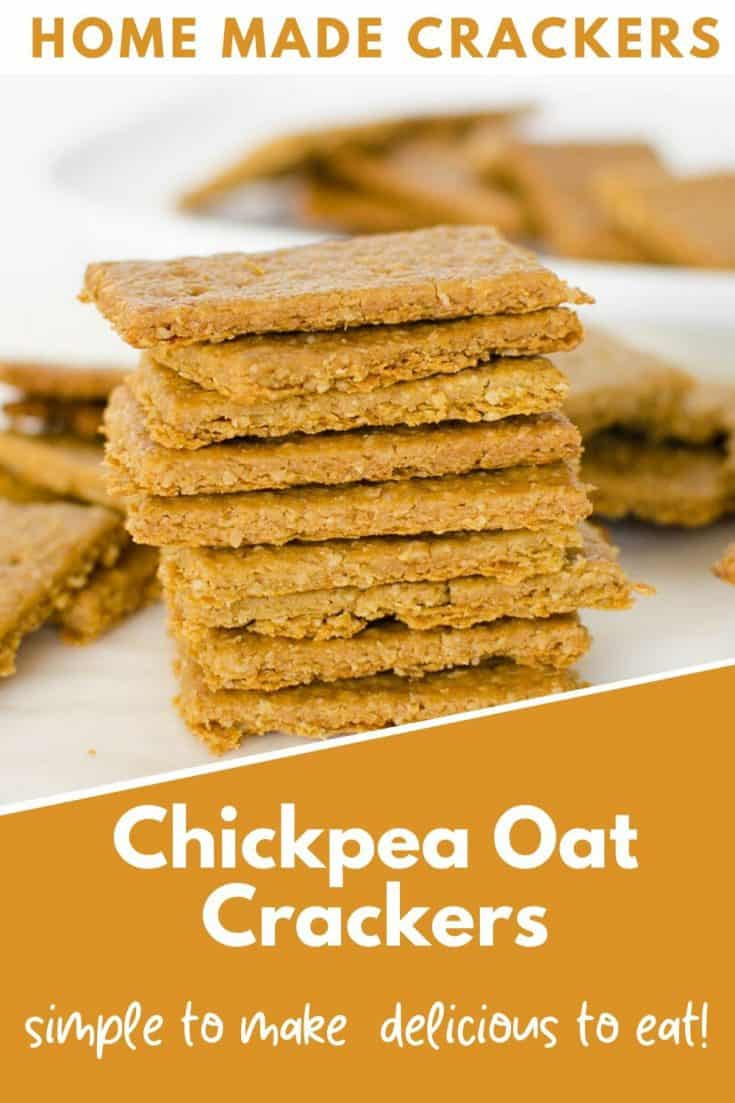 Chickpea and oat crackers, healthy snacks made with simple ingredients. Crispy and crunchy and delicious #crackers #chickpea #veganrecipes #easyrecipe #snacks