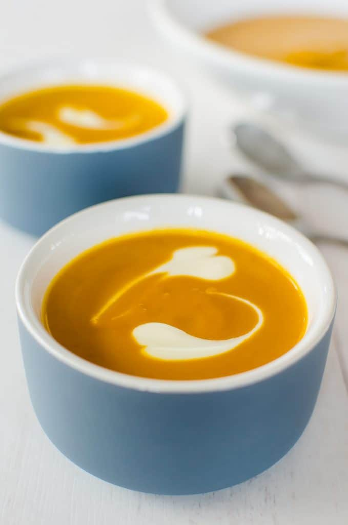 Pumpkin and peanut butter soup, such a simple and easy soup, but the peanut butter is a game changer. Healthy Kids Food