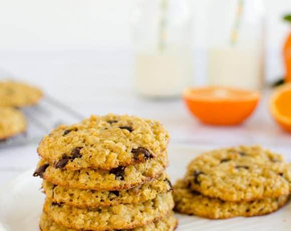 Orange Choc Chip Oat Cookies