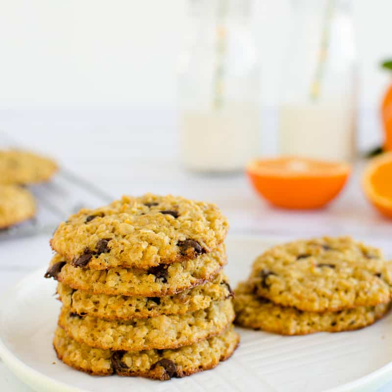 Orange Choc Chip Oat Cookies