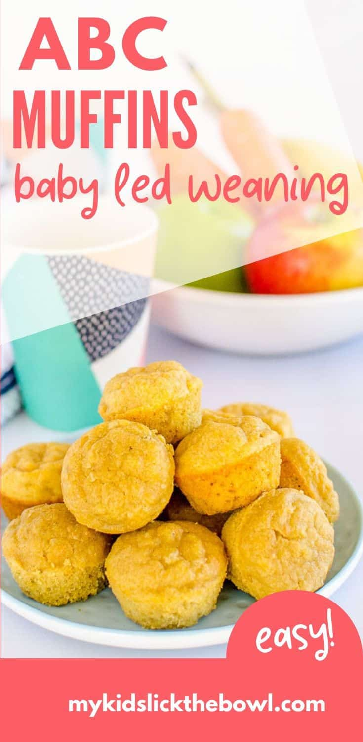 These Baby Led Weaning Muffins have no added sugar perfect for babies, toddlers, and kids. A Soft spongy style Baby Muffin with Apple Banana and Carrot. #babyledweaning #blw #blwideas #muffins #homemadebabyfood