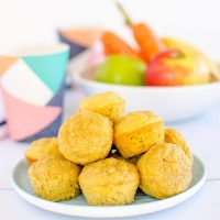7 Low sugar muffins for kids | Apple Banana Carrot Muffins