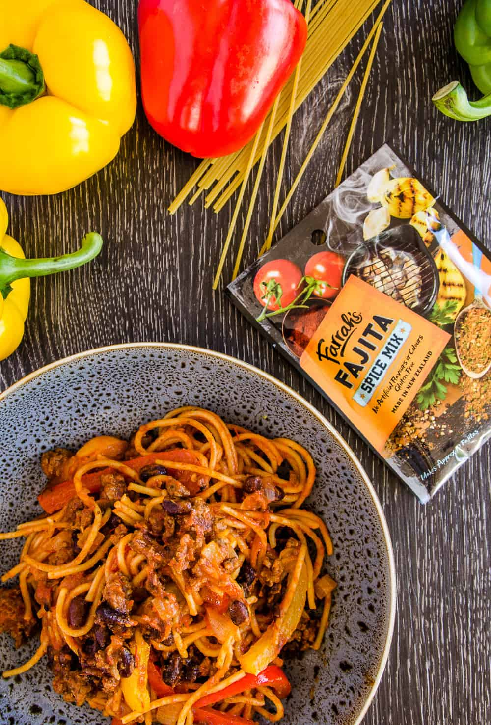 Fajita One Pot Pasta – With Farrah's