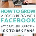 How to grow a food blog with Facebook. 10k to 85k Fans in 6 months, from page views to pay check!