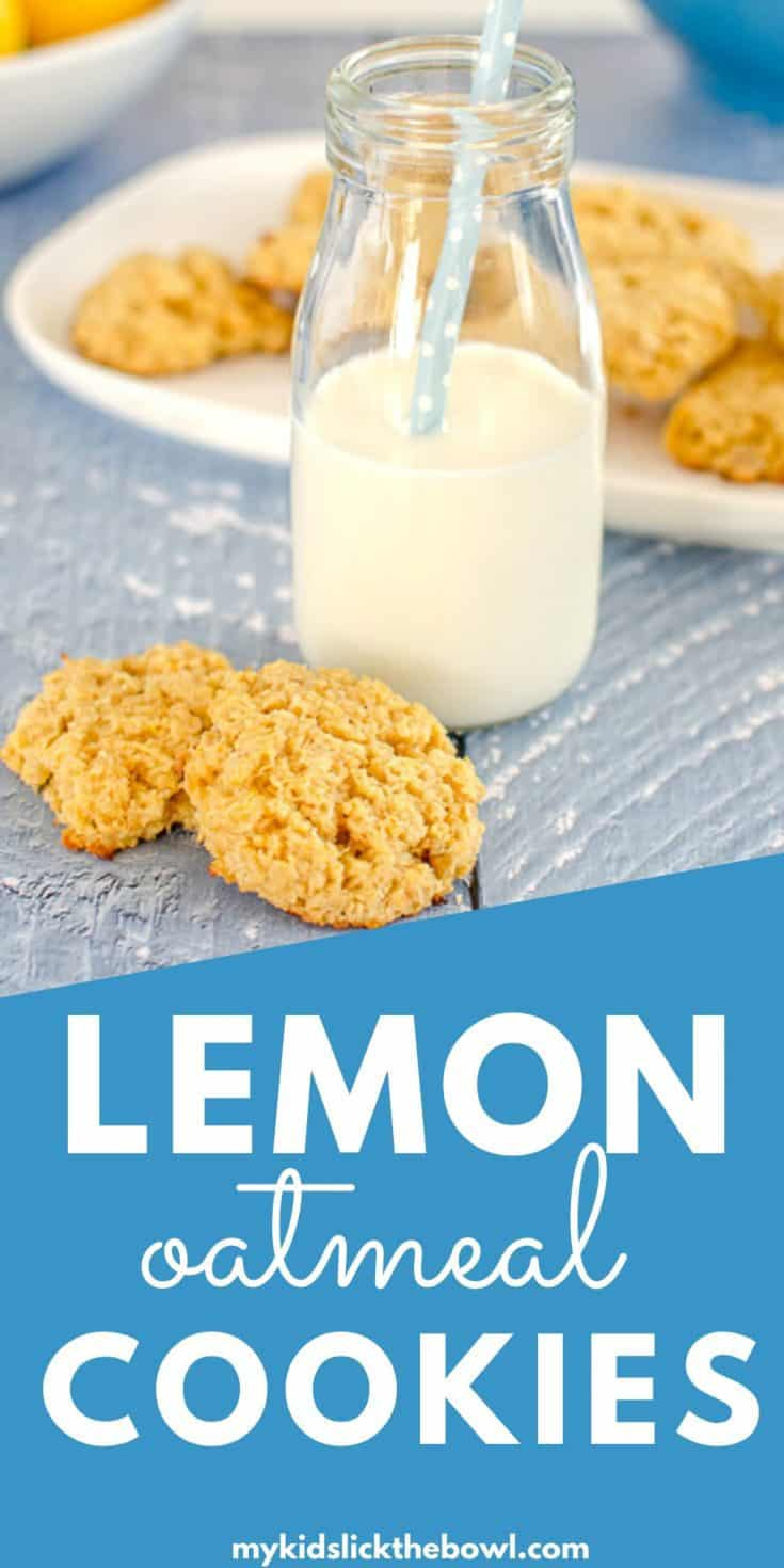 Healthy lemon oatmeal cookies, so easy to make flavoured with lemon honey and coconut, a soft cookie #cookies #lemonrecipe #easybaking #baking