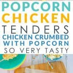 Popcorn chicken tenders healthy baked chicken nuggets breaded with Popcorn. Gluten free allergy friendly, Popcorn chicken tenders a homemade easy recipe which is a great alternative to commercial chicken nuggets