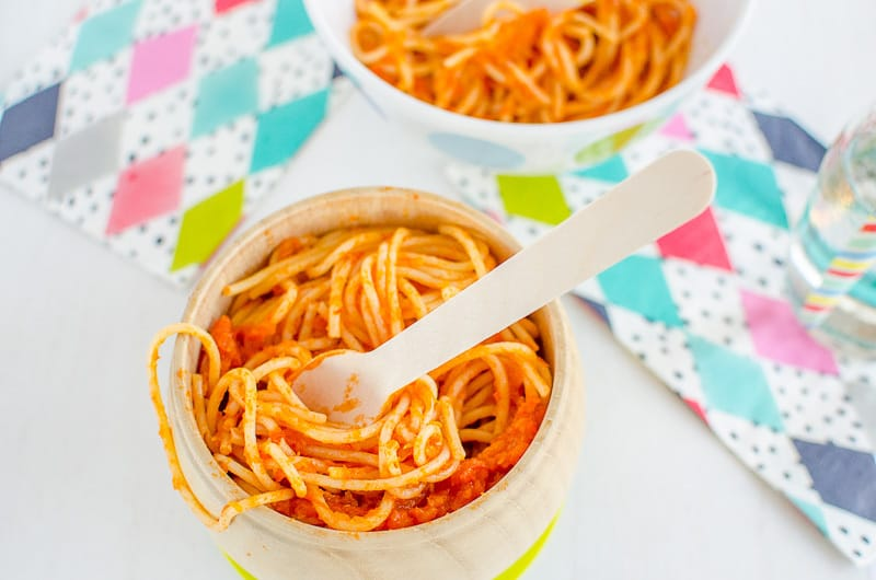 tomato-pumpkin spaghetti sauce, healthy tasty pasta sauce hidden veggies for picky kids and fussy eaters