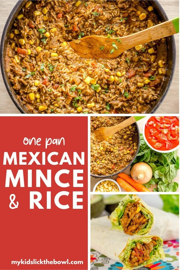 One-Pan Mexican Mince and Rice a One Pot Family Meal an easy veggie loaded recipe
