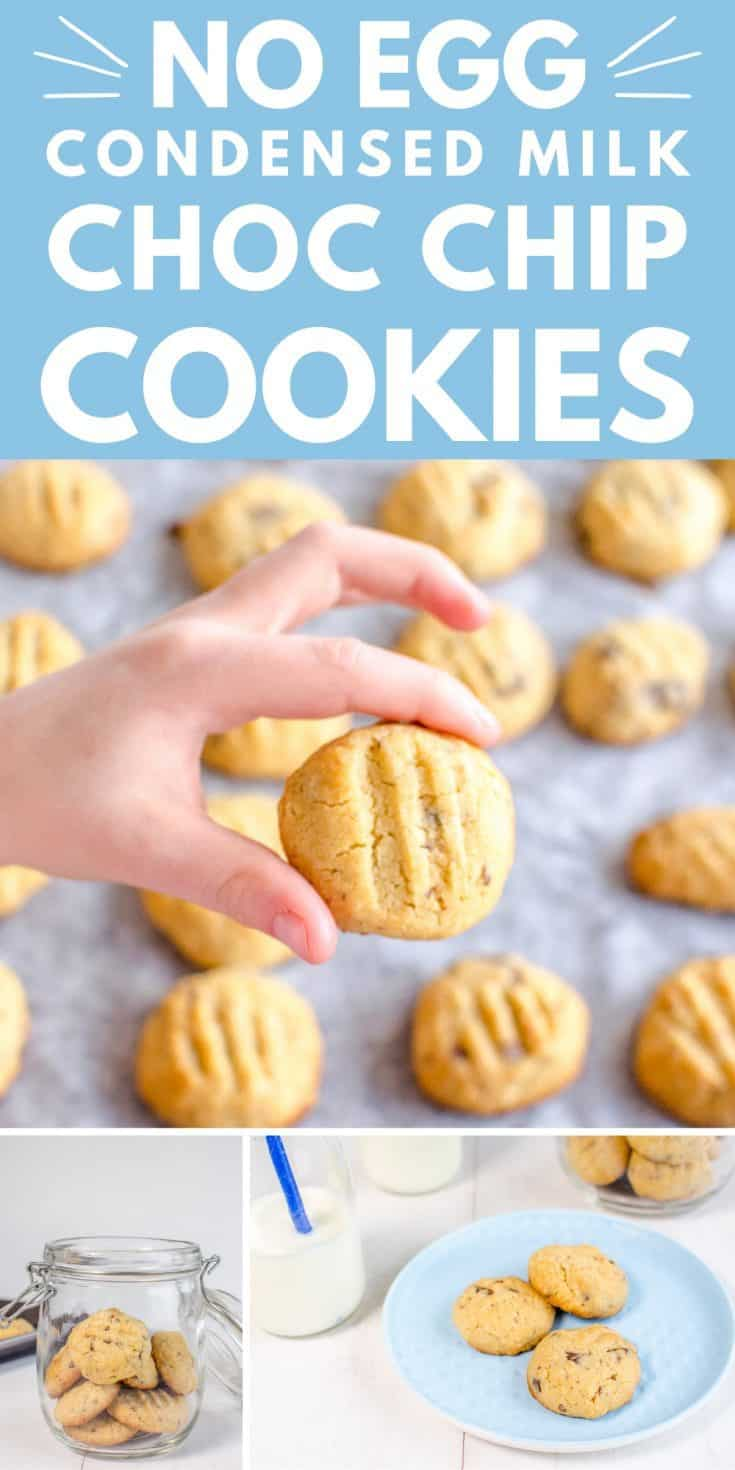 Condensed milk choc chip cookies, an egg-free sweet treat your kids will love, making chocolate chip cookies is the perfect childhood memory #cookies #chocchipcookies #baking