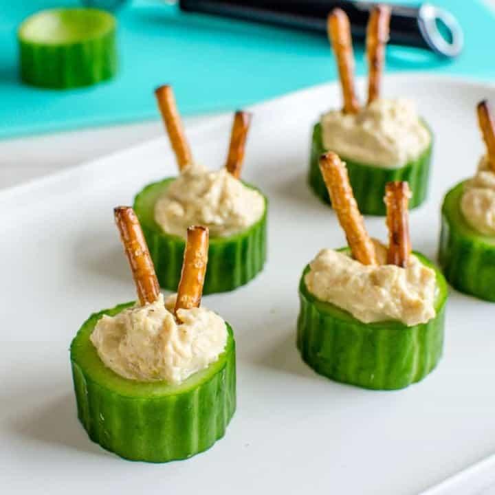 Cucumber Hummus Cups