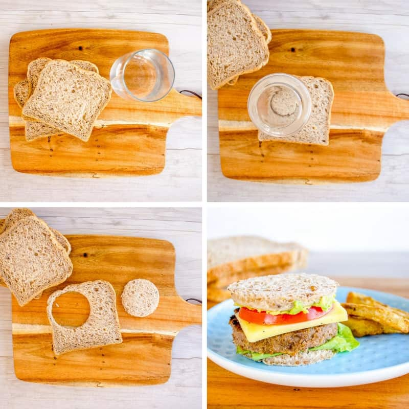 Mini toast burgers for toddlers a kid friendly dinner perfect for picky eaters and baby led weaning