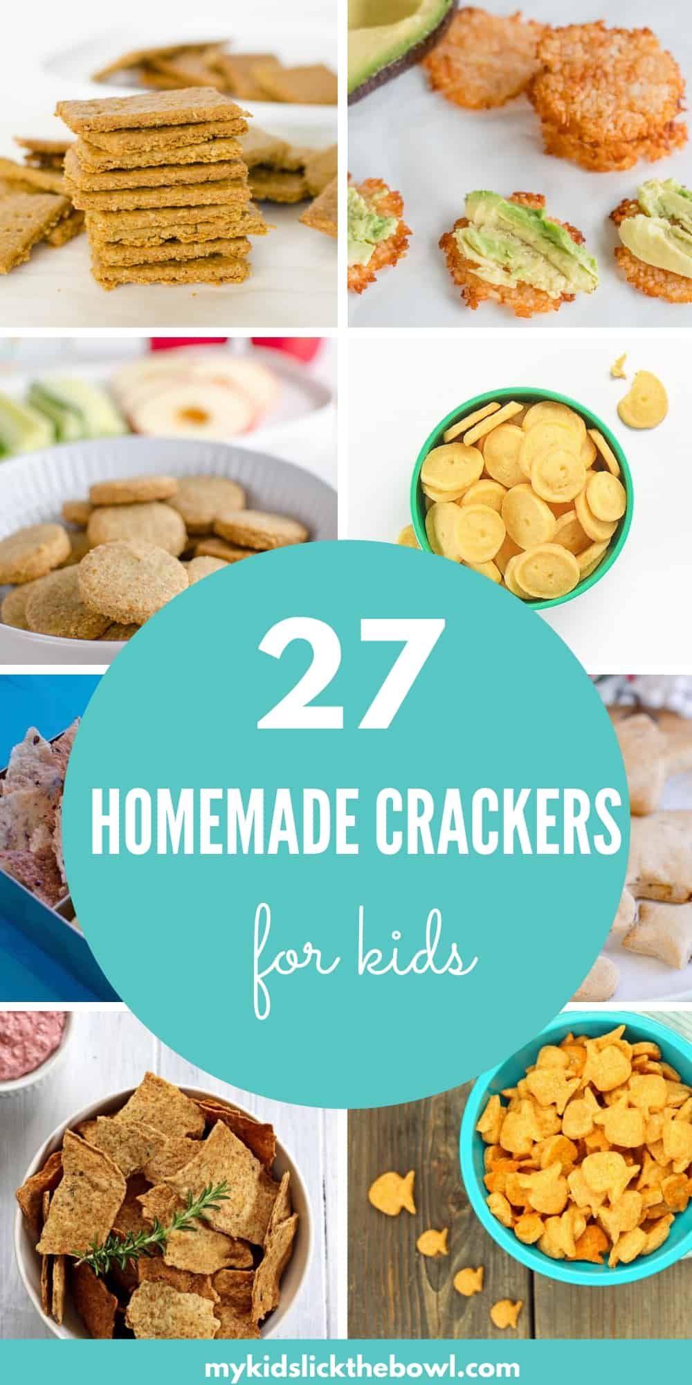 collage showing healthy homemade cracker recipes