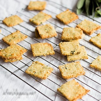 25 healthy homemade cracker recipes suitable for kids and the whole family Quinoa Paprika Crackers via A Fresh Legacy